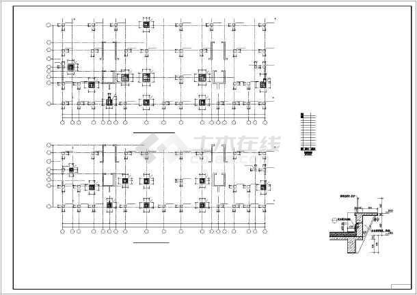 钢筋混凝土框剪结构设计高层住宅楼cad施工图-图3