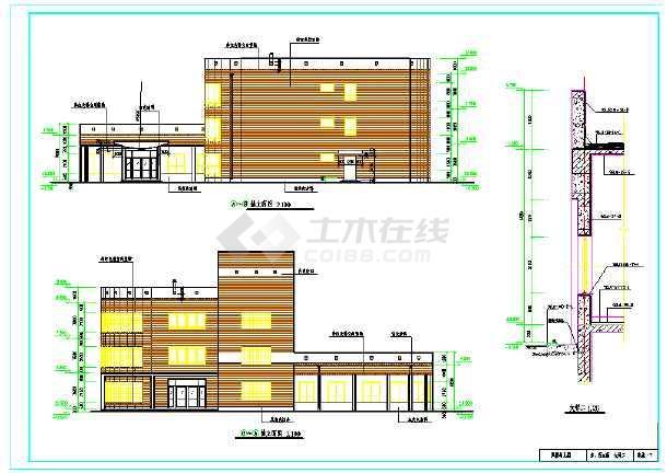 2018最新整理50套各式风格特点幼儿园建筑设计施工图-图一