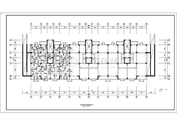 某13层住宅楼框剪结构cad建筑工程施工图纸-图1
