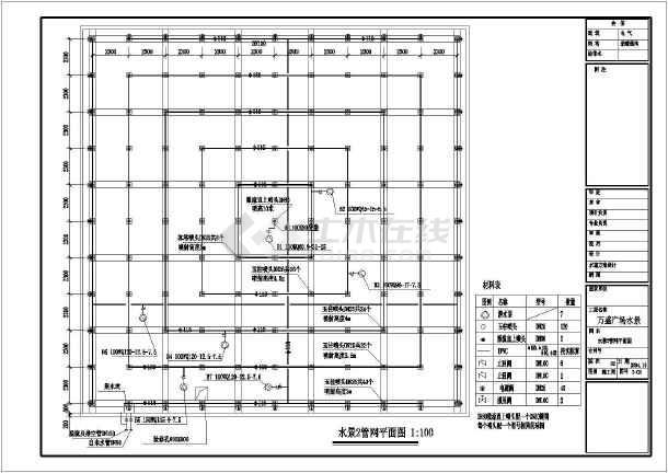 万盛广场水景装修施工图-图1