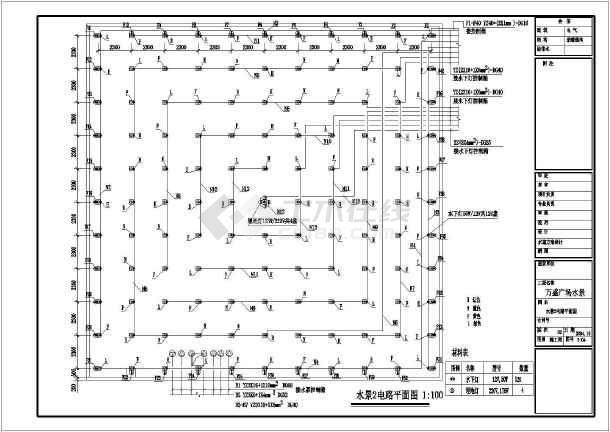 万盛广场水景装修施工图-图2