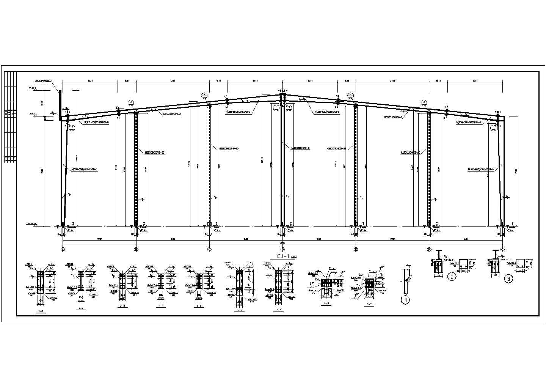 5万平建材仓储区厂房规划设计图纸图片1