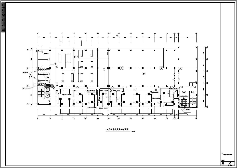 某洁净厂房空调系统cad平面布置施工图图片3