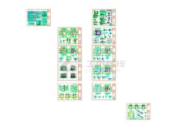 三层别墅图纸含建筑结构水电cad图纸-图1