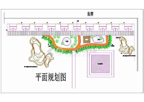 某地小型农家乐木屋规划设计cad图-图1