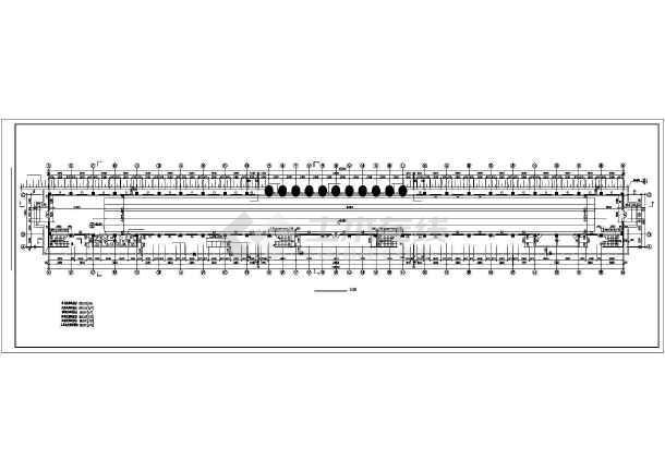 某中学体育场建筑设计CAD施工图-图1