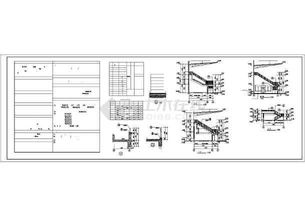某中学体育场建筑设计CAD施工图-图3