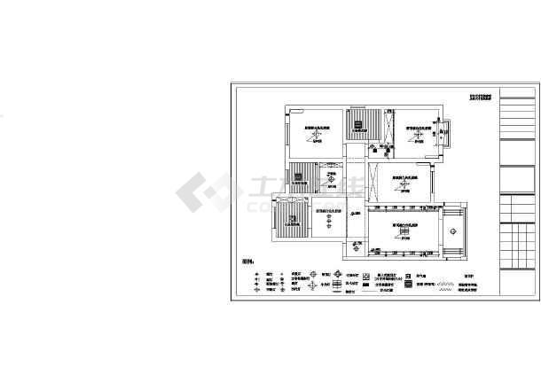 点击查看某豪宅精装修室内设计cad施工图第1张大图