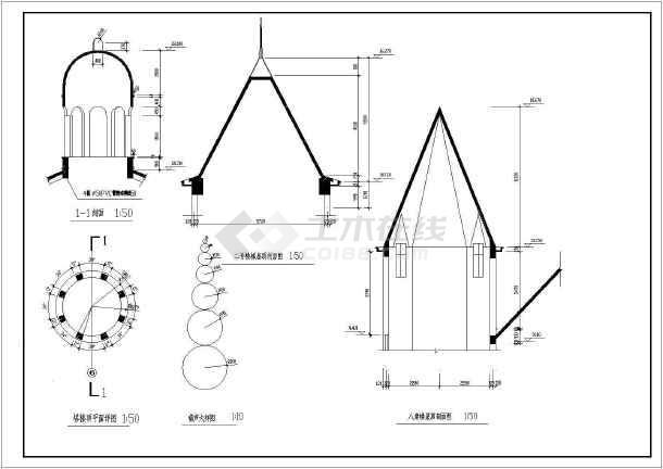 某地大型三层法国古堡方案设计图纸(含建筑工程总说明)-图1