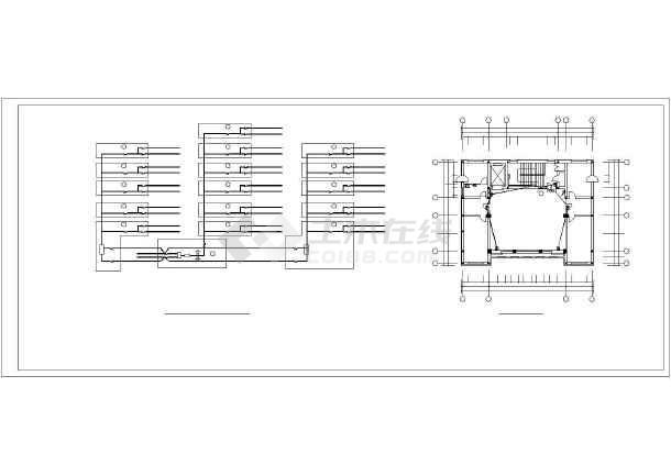 某医院内部全套电气设计cad施工图纸-图3