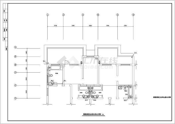 住宅楼建筑给排水图纸-图1