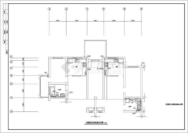 住宅楼建筑给排水图纸-图2