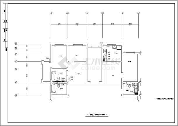 住宅楼建筑给排水图纸-图3