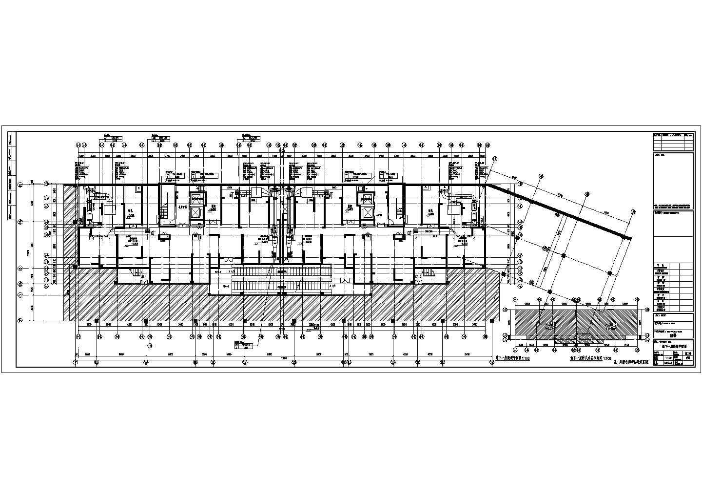 [江苏]高层住宅地下室通风防排烟平面图图片1