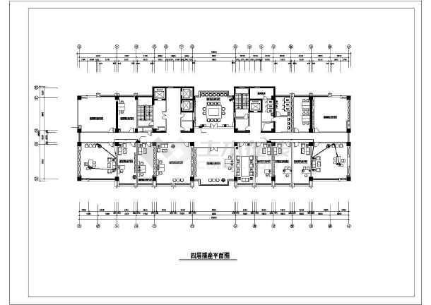 10层某公安局办公楼装修电气cad施工设计图-图一