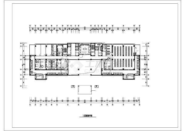 10层某公安局办公楼装修电气cad施工设计图-图二