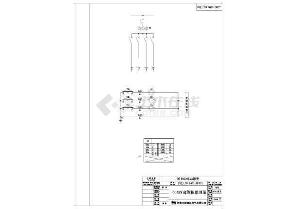 500KV箱式变电站cad施工设计图-图一