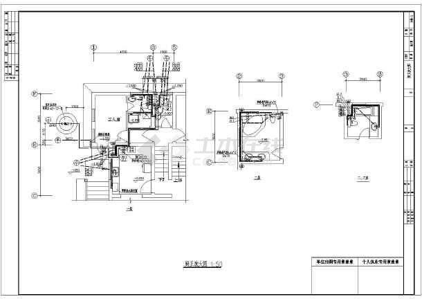 三层别墅给排水及煤气系统施工图-图2