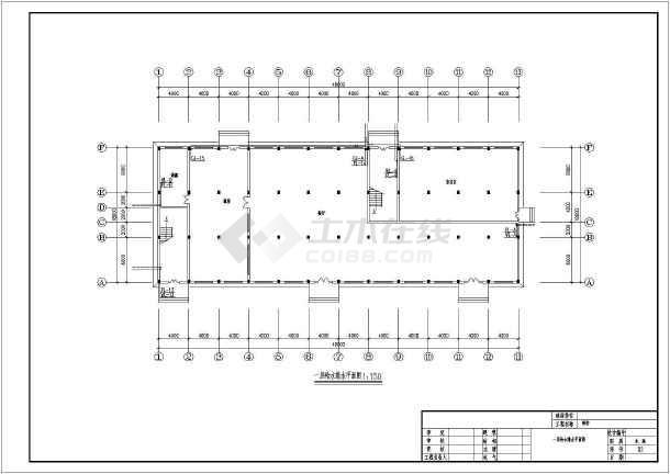 宿舍楼建筑给排水施工图纸-图一