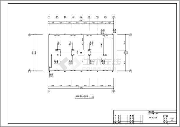 宿舍楼建筑给排水施工图纸-图3