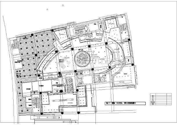 某市餐厅装修设计CAD施工图-图一