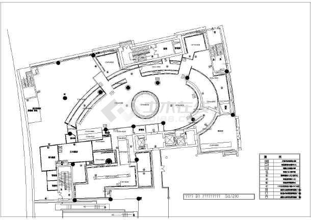 某市餐厅装修设计CAD施工图-图1