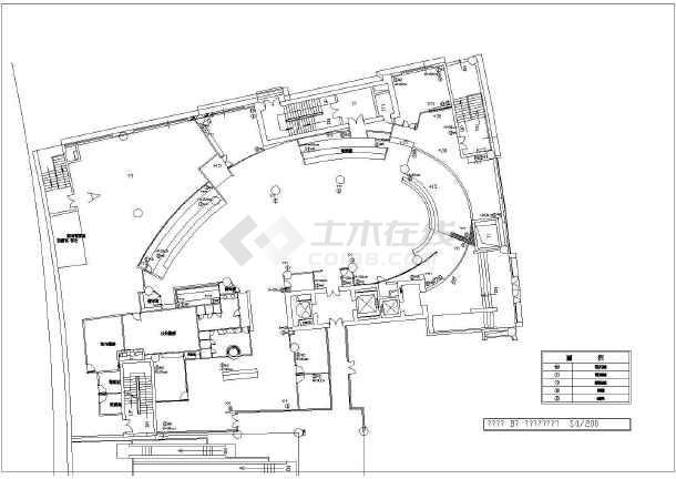 某市餐厅装修设计CAD施工图-图2