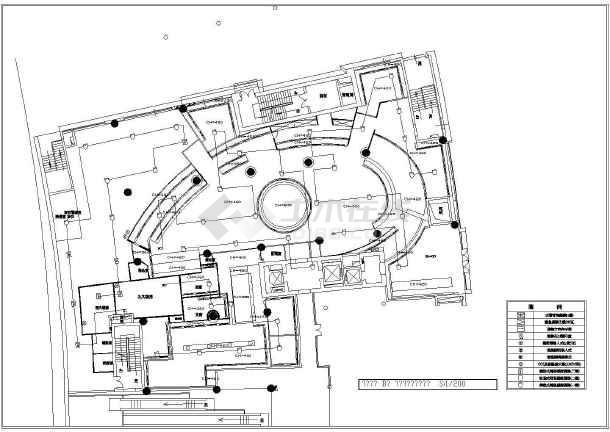 某市餐厅装修设计CAD施工图-图3
