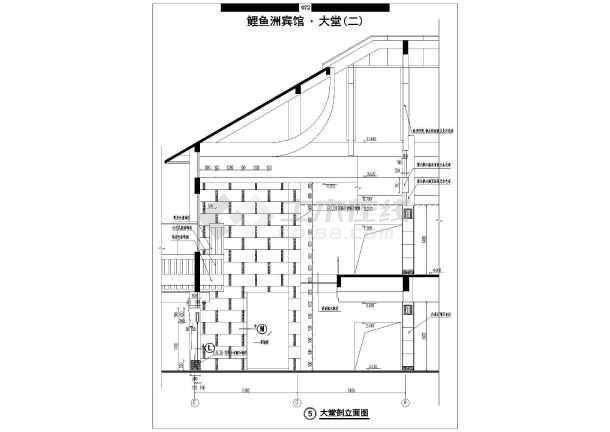 鲤鱼洲宾馆装修设计cad全套施工图-图1