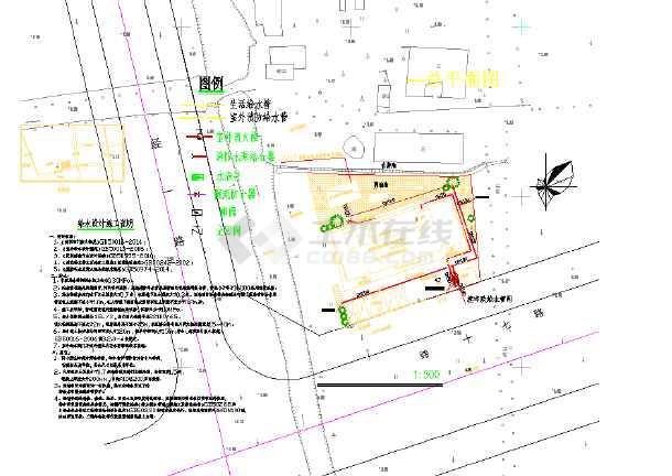 点击查看某街道前湖村居家养老服务建筑--给排水第1张大图