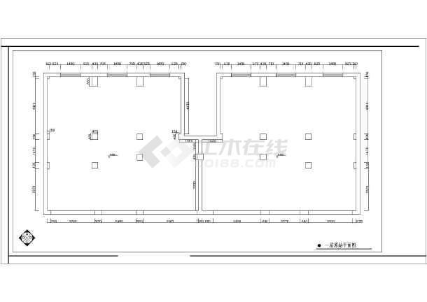 点击查看某酒店装修设计cad施工图第1张大图