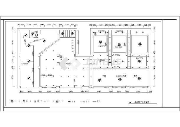 某酒店装修设计cad施工图-图1