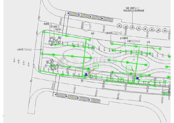 绿化平面图(给排水)滴灌系统设计图-图2