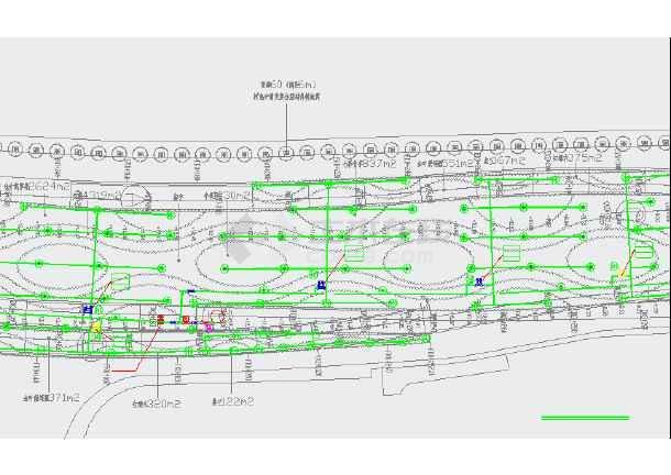 绿化平面图(给排水)滴灌系统设计图-图3