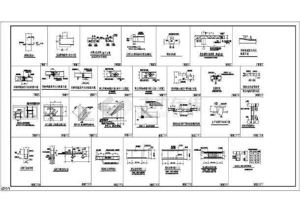 某地区混凝土牌坊建筑cad施工图(含设计说明)-图1