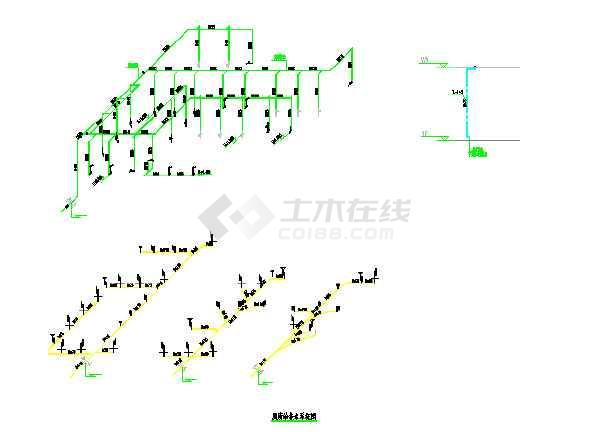 三套公共厕所给排水专业设计图纸-图1