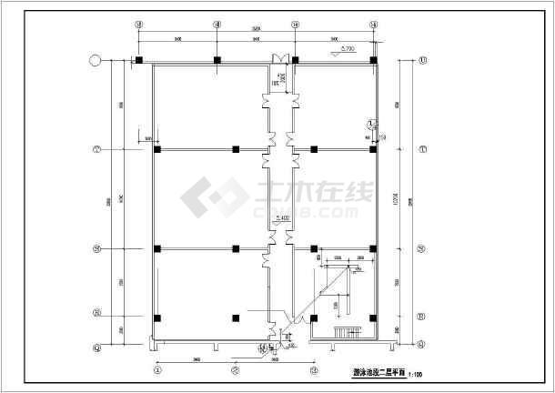 点击查看[北京]游泳池暖通及给排水系统设计图纸第1张大图