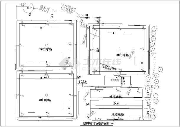 某室外球场照明电气图纸-图二