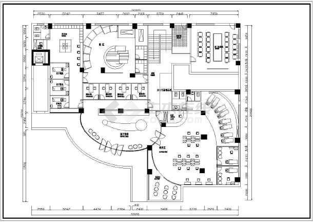 某地整套美容院装修cad设计施工图纸-图二