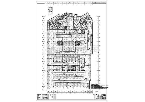 某小区地下车库电气全套图纸-图1