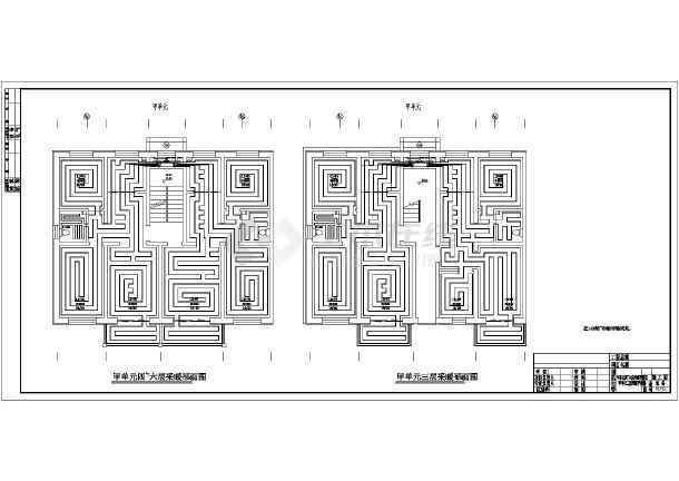 北方商住楼给排水、消防、地暖设计全图-图1