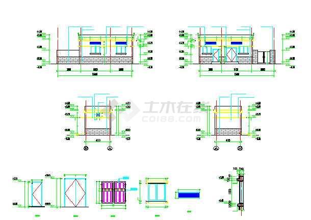 点击查看配电房建筑及围墙做法详图第2张大图