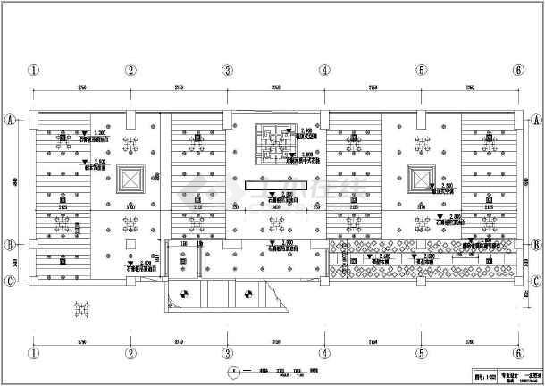 点击查看某川菜馆饭店室内装修cad施工图第1张大图