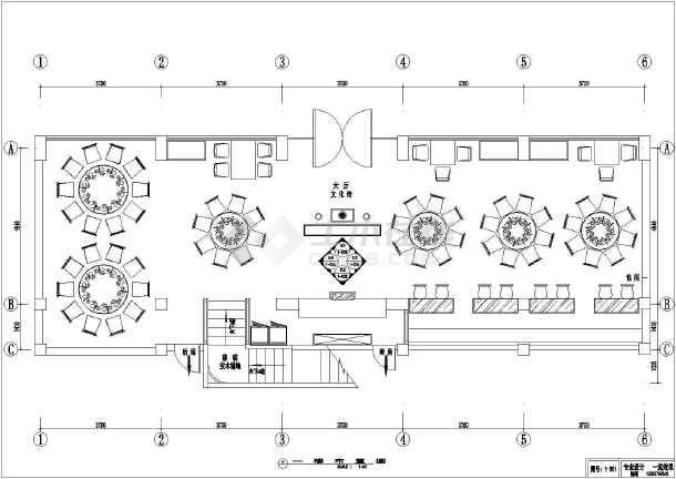 点击查看某川菜馆饭店室内装修cad施工图第2张大图