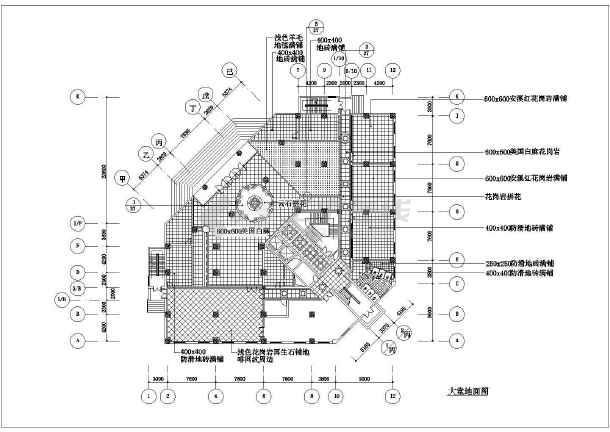 某宾馆大堂装修设计cad全套施工图-图2