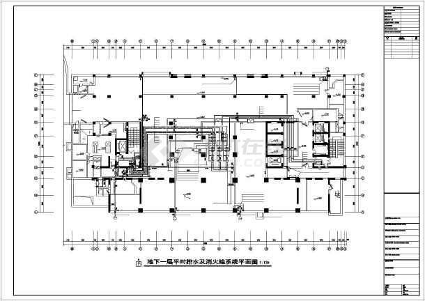 急救医院给排水设计施工图-图一