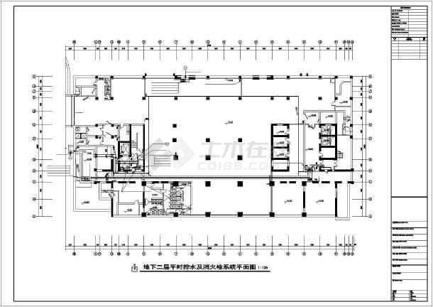 急救医院给排水设计施工图-图二