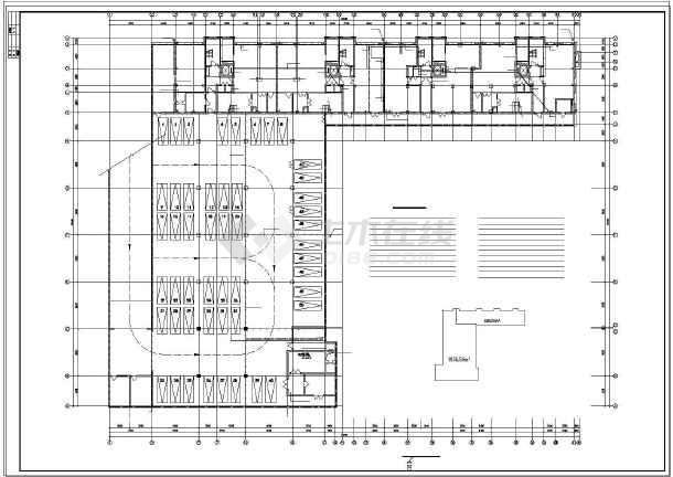 某综合楼电力电气设计cad平立面施工图-图1