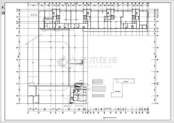 某综合楼电力电气设计cad平立面施工图-图2