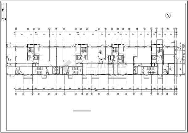 某综合楼电力电气设计cad平立面施工图-图3